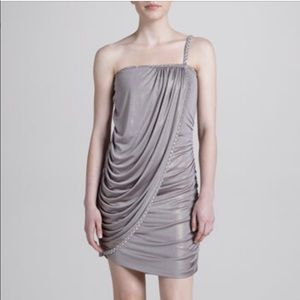 Laundry Skinny Strap Foil Wrap Dress